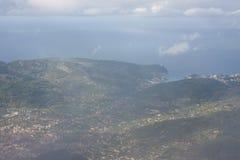 Vista aérea del puerto de puerto de Soller Fotografía de archivo