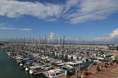 Vista aérea del puerto deportivo de Herzliya Fotografía de archivo libre de regalías