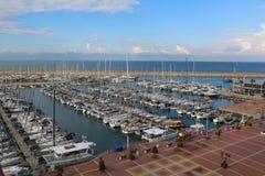 Vista aérea del puerto deportivo de Herzliya Imágenes de archivo libres de regalías