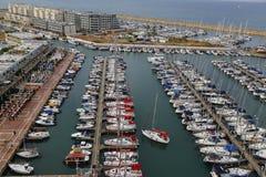 Vista aérea del puerto deportivo de Herzliya Imagen de archivo