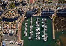 Vista aérea del puerto deportivo de Isla Canela Fotos de archivo