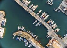 Vista aérea del puerto deportivo de Limassol, Chipre imagen de archivo libre de regalías