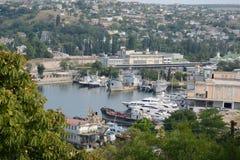 Vista aérea del puerto industrial Fotografía de archivo libre de regalías