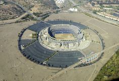 Vista aérea del Qualcomm Stadium, San Diego Fotografía de archivo libre de regalías