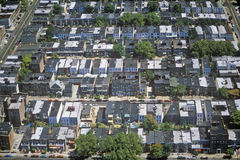 Vista aérea del Queens, NY Fotografía de archivo libre de regalías