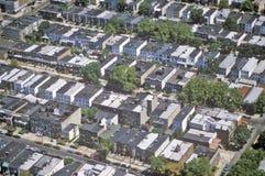 Vista aérea del Queens, NY Imágenes de archivo libres de regalías