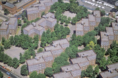 Vista aérea del Queens, NY Imagen de archivo libre de regalías