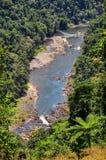 Vista aérea del río, altiplanicies de Atherton, Australia Fotografía de archivo