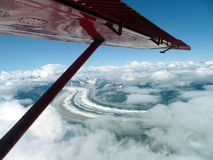 Vista aérea del río de Kantishna Imagen de archivo libre de regalías
