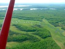 Vista aérea del río de Kantishna tomado de un avión turístico Fotos de archivo