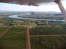 Vista aérea del río de Ord Fotos de archivo libres de regalías