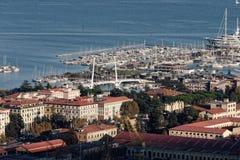 Vista aérea del spezia del la Fotografía de archivo libre de regalías