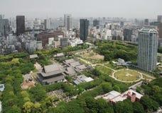 Vista aérea del templo de Zojo-Ji fotos de archivo libres de regalías