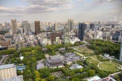 Vista aérea del templo de Zojo-Ji, Tokio imágenes de archivo libres de regalías