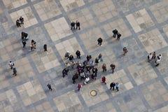Vista aérea del tercer patio del castillo de Praga Imagen de archivo
