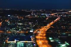 Vista aérea del tráfico outsided de Chicago imagenes de archivo