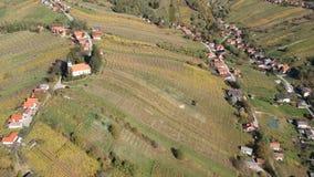 Vista aérea del valle de Lendava almacen de video