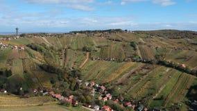 Vista aérea del valle de Lendava almacen de metraje de vídeo