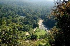 Vista aérea del valle Sabah Borneo de Danum fotografía de archivo libre de regalías
