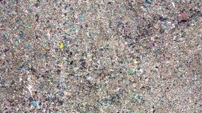 Vista aérea del vertido grande Descarga de basura inútil, contaminación ambiental almacen de video