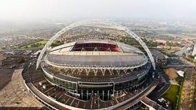 Vista aérea del Wembley Stadium icónico de la señal Foto de archivo