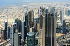 Vista aérea del World Trade Center en Dubai Foto de archivo libre de regalías