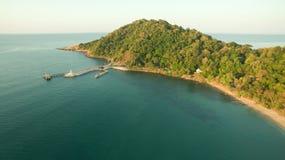Vista aérea del ya del laem del khao y del parque nacional samed de la isla en ra Fotos de archivo