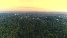 Vista aérea delantera del paisaje occidental de Pennsylvania metrajes