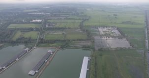 Vista aérea do abovee de Nakhon Nayok video estoque
