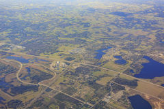 Vista aérea do abrigo do inverno imagens de stock royalty free
