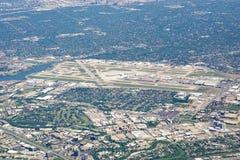Vista aérea do aeroporto de Dallas Love Field (DAL) Fotografia de Stock Royalty Free
