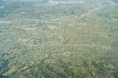 Vista aérea do Brea, Fullerton Fotografia de Stock Royalty Free