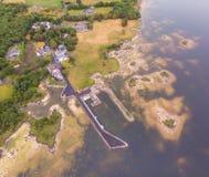 Vista aérea do cais de Kilbeg fotos de stock