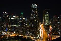 Vista aérea do cais do Queens ocidental em Toronto fotos de stock