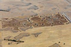 Vista aérea do campo e das terras, Victoria, Austrália foto de stock