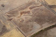 Vista aérea do campo e das terras, Victoria, Austrália imagens de stock
