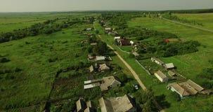 Vista aérea do campo do russo filme