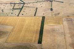 Vista aérea do campo vitoriano, Austrália imagens de stock royalty free