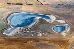 Vista aérea do campo vitoriano, Austrália imagem de stock