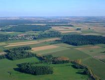 Vista aérea do campo Yonne norte fotografia de stock royalty free