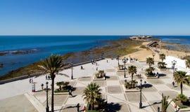Vista aérea do castelo de San Sebastian Imagens de Stock Royalty Free