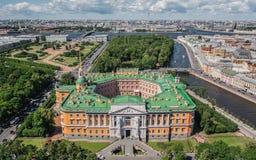 Vista aérea do castelo de St Michael em St Petersburg fotos de stock