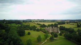 Vista aérea do castelo histórico de Bodiam vídeos de arquivo