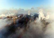 Vista aérea do central elétrica fotos de stock