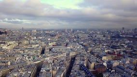 Vista aérea do coeur do sacre em Paris filme