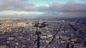 Vista aérea do coeur do sacre em Paris video estoque