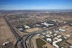 Vista aérea do distrito de compra de Chandler Fotografia de Stock