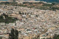 Vista aérea do EL Bali de Fes, Marrocos imagem de stock royalty free