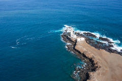 Vista aérea do farol do farol de Ponta Temerosa na cidade do PR Fotografia de Stock Royalty Free