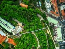 Vista aérea do hotel NH Praha fotografia de stock royalty free